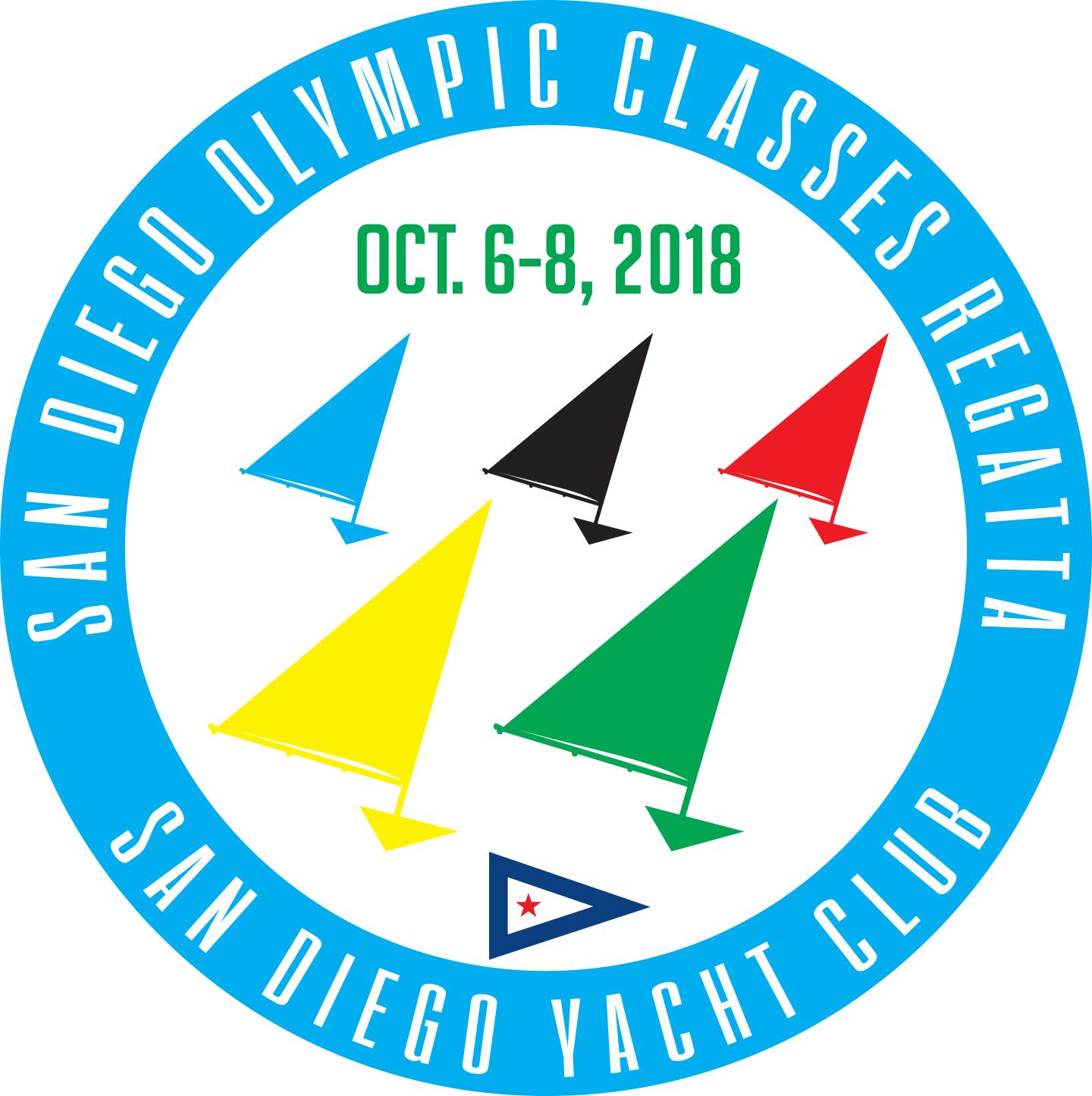 San Diego Olympic Classes Regatta 2018 Logo V2